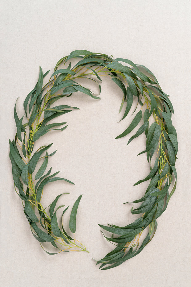 Long Leaf Eucalyptus Greenery Garland 6.5FT