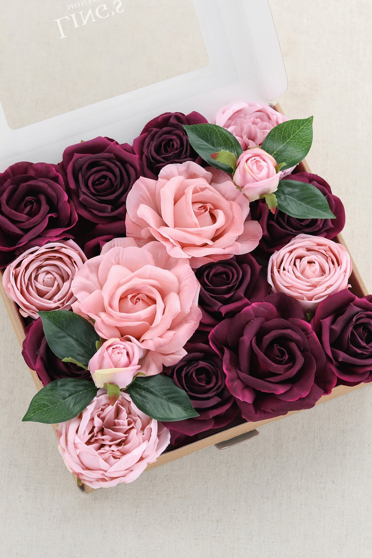 Silk Chorale Rose & Vendela Rose with Stem - Marsala