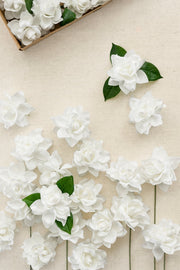 "3"" Foam Gardenia with Stem - 4 Colors"