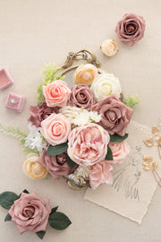 Centerpiece DIY Flowers Pacakge - Garden Dusty Rose