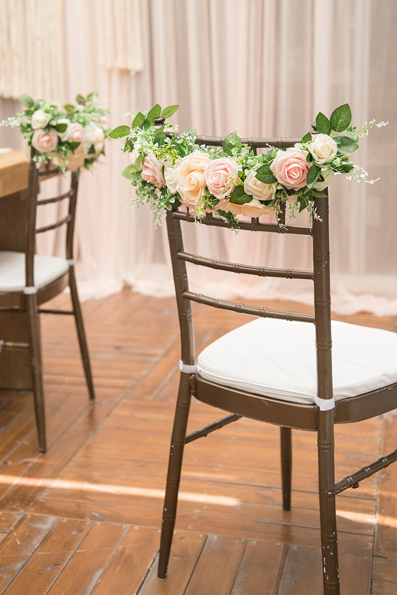 Clearance Sale | Floral Chair Decorations (Set of 2) - Blush