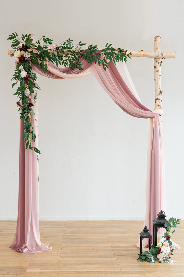 Arch Flower Garland 6.5ft (Set of 2) - Blush & Dusty Rose