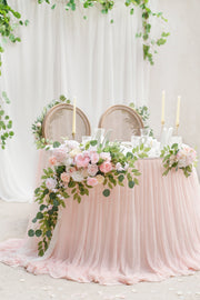 Extra Long Pooling Table Skirt - Blush