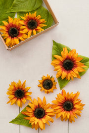 Multi-Size Sunflower with Stem - 2 Colors