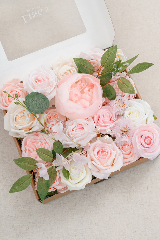 Flowers Box Set for DIY - Blush & Cream Theme