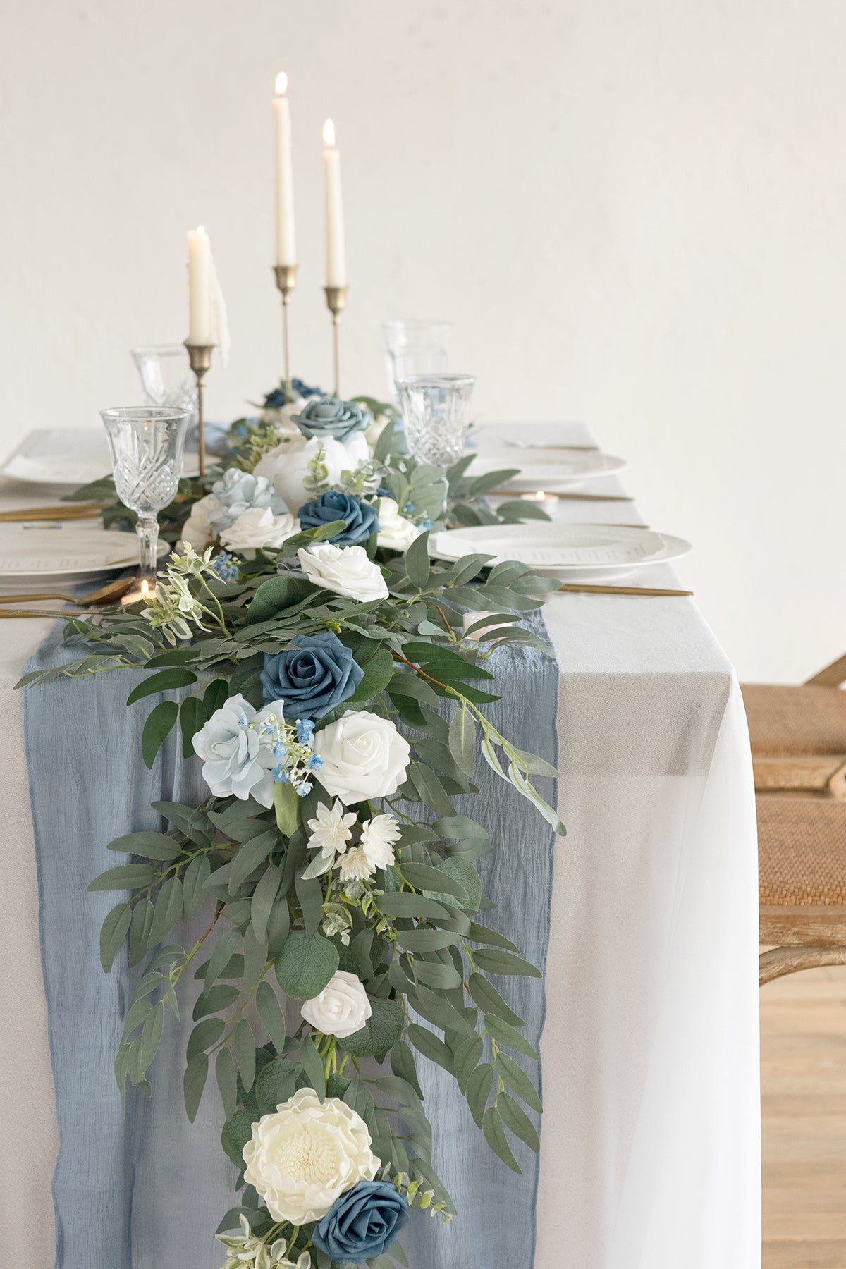 6ft Eucalyptus Flower Garland - Dusty Blue