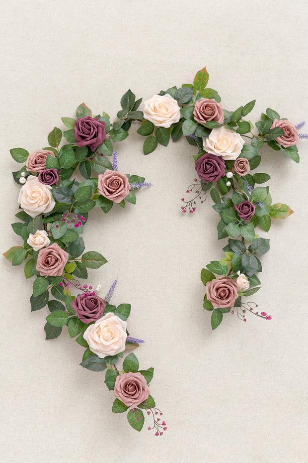 5ft Rose Flower Garland - Dusty Rose