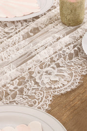 Eyelash Lace Table Runner 30x120 inch