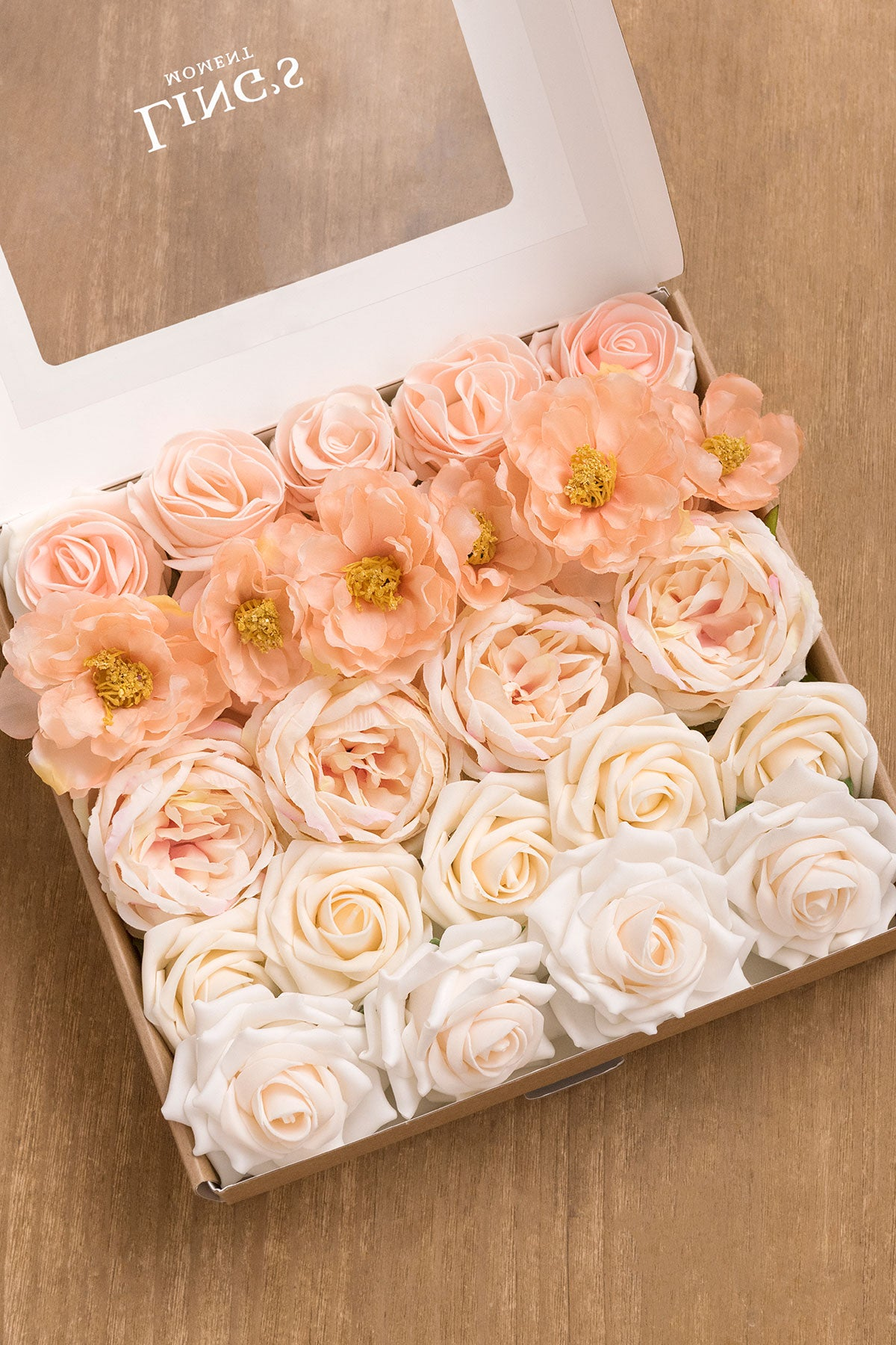 Flowers Box Set for DIY - Orange & Coral Theme