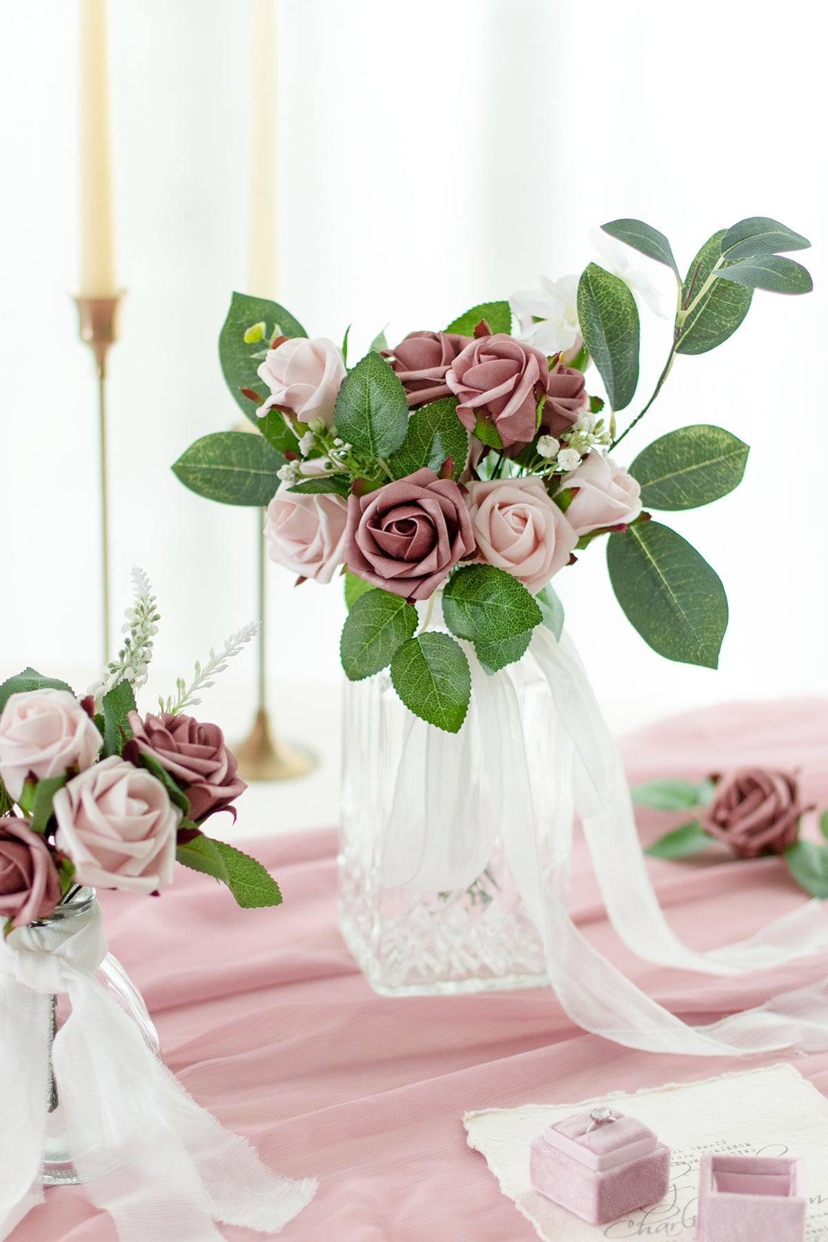 Centerpiece DIY Flowers Pacakge - 5 Styles