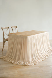Extra Long Pooling Table Skirt - Nude