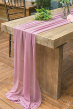 29 x 120 Inch Romantic Sheer Table Runner - 7 Colors