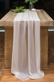 "Romantic Sheer Table Runner 29""w x 10FT/14FT - 10 Colors"