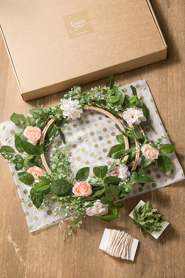 Greenery Wreaths with Roses (Set of 3) - 2 Colors - Ling's moment