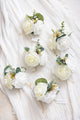 Wrist Corsages Bridesmaid Hand Flowers (Set of 6) - 6 Colors