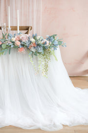 Extra Long Tulle Table Skirt - 3 Colors