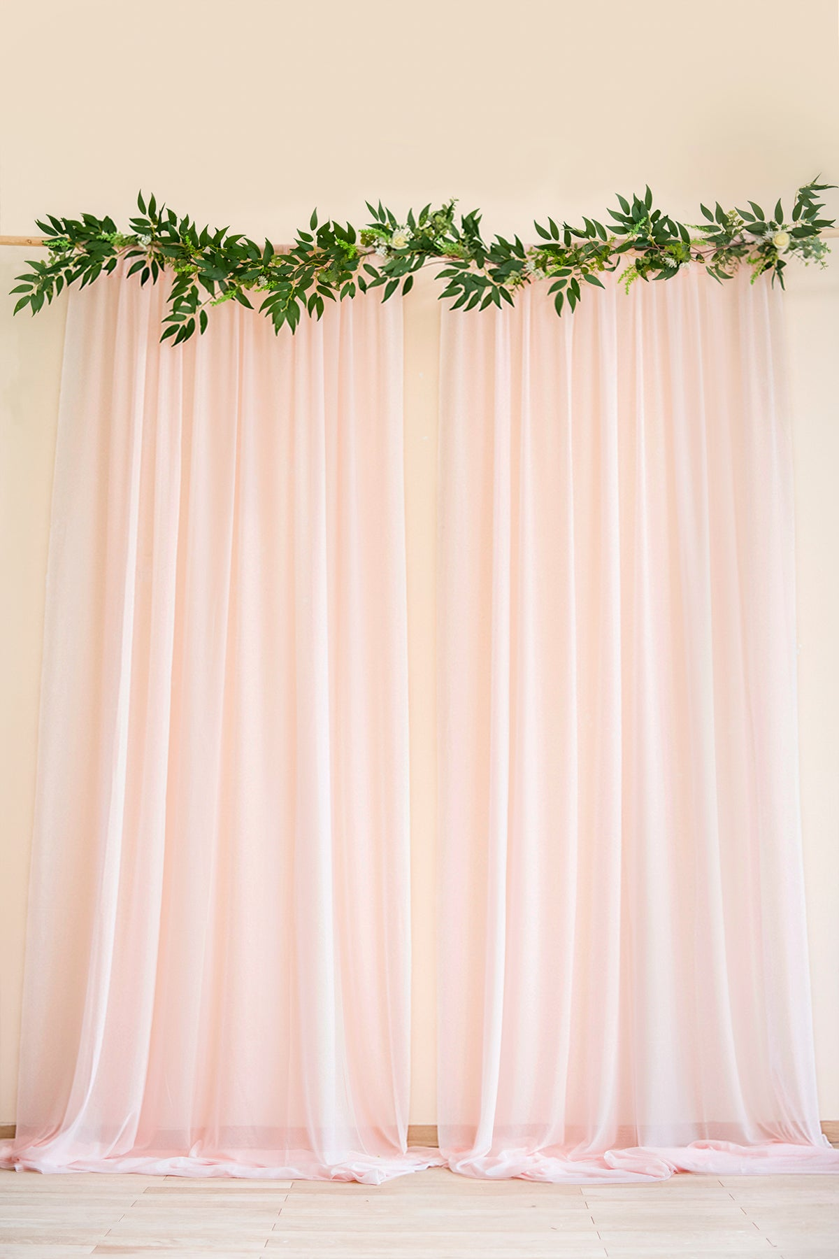 Sheer Backdrop Curtain Panels 60 W X 10ft Set Of 2 7 Colors