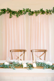 "Sheer Backdrop Curtain Panels 60""w x 10FT (Set of 2) - Blush & White"