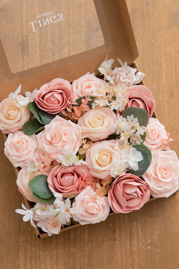 Blush & Peach Flowers Box Set - 37 Styles