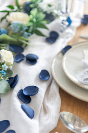 Silk Rose Petals - Blue Shades