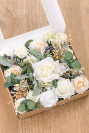Natural Whites & Ivory Flowers Box Set - 9 Styles