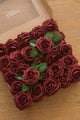 "2.75"" Foam Rose with Stem 25/50pcs - 27 Colors"