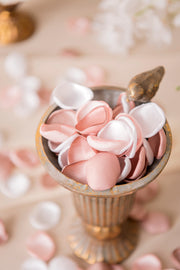 Silk Rose Petals - White & Beige