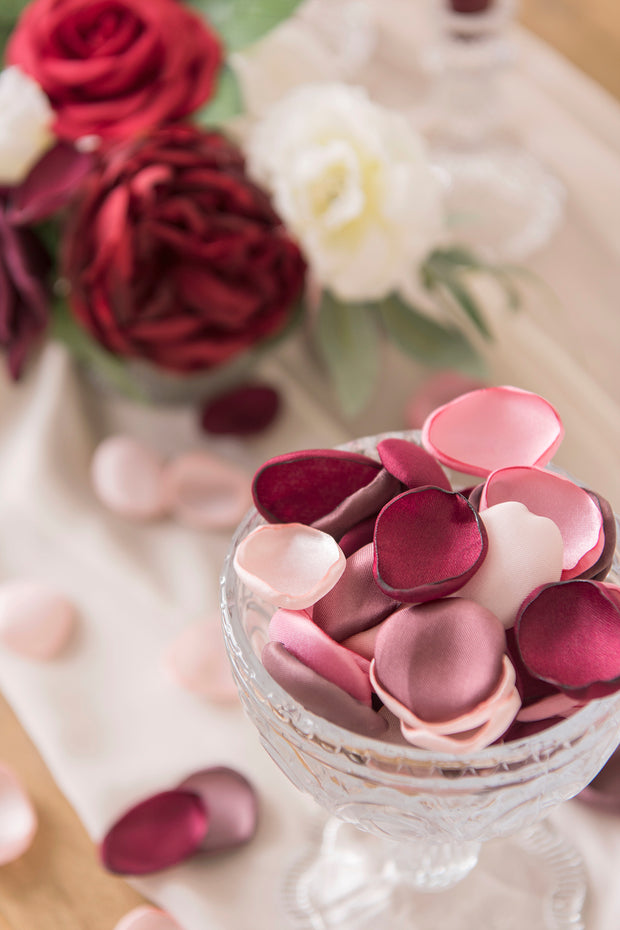 Handmade Silk Rose Petals - 26 Colors - Ling's moment