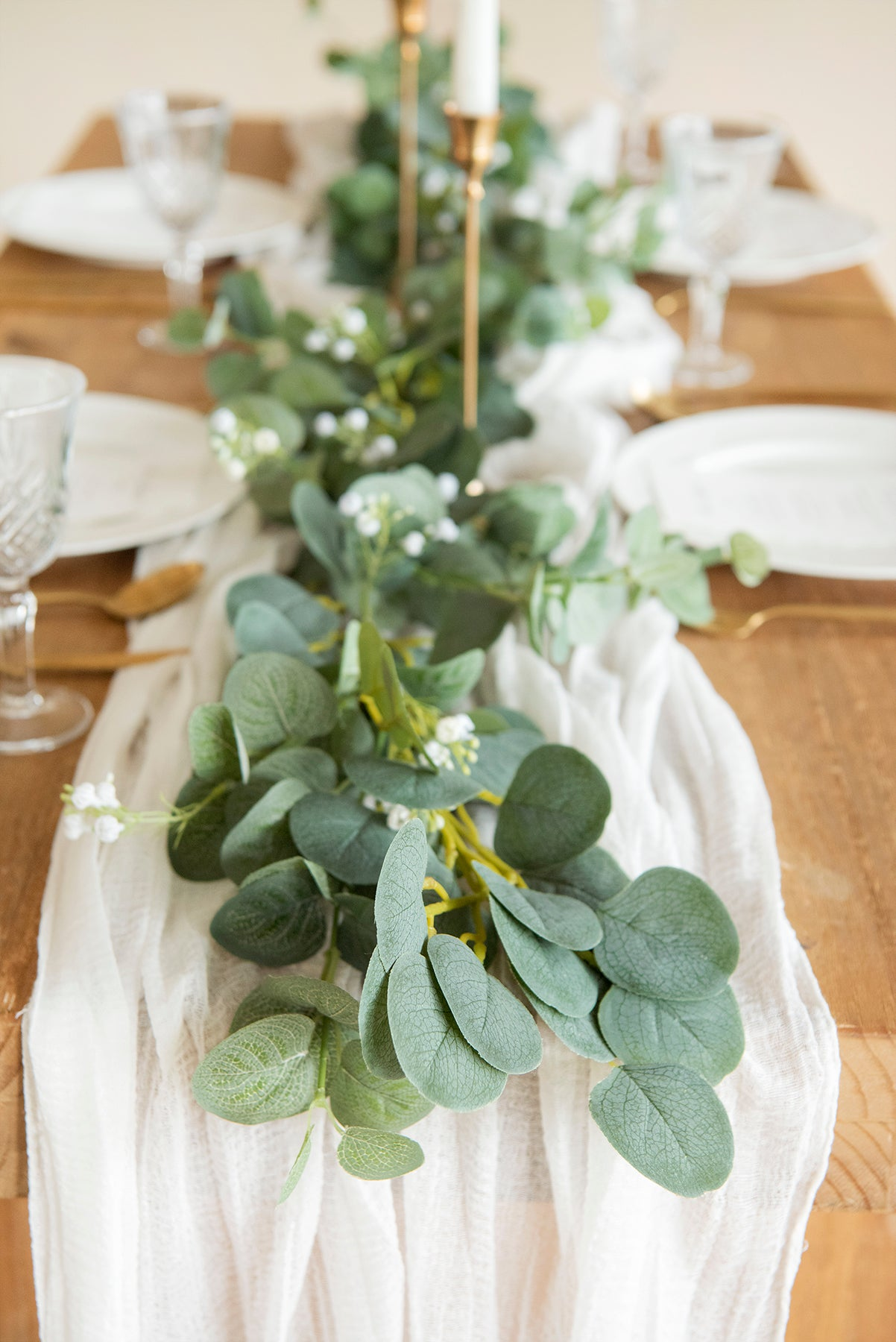 Baby's Breath Eucalyptus Garland 6.5FT