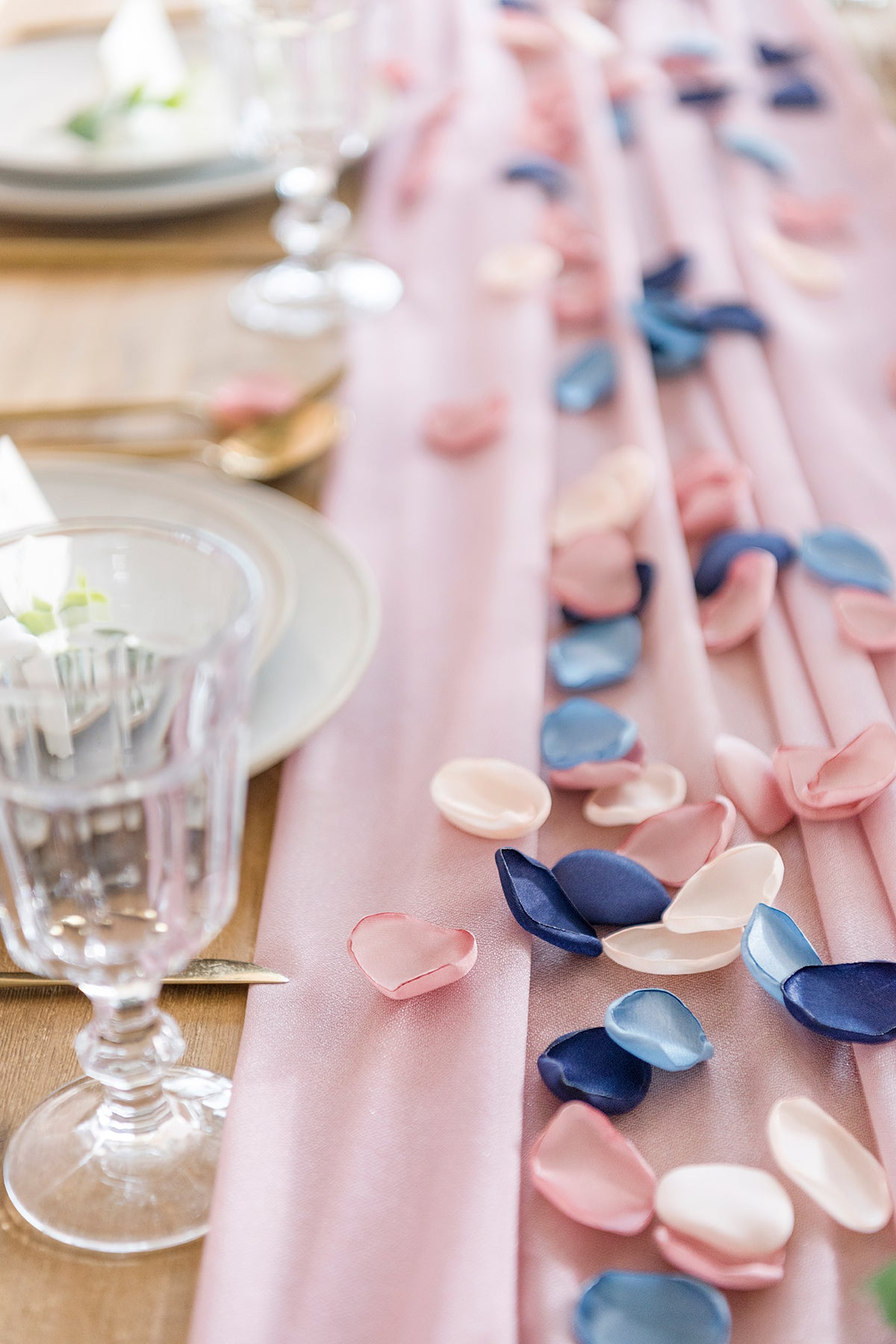Silk Rose Petals 200pcs/400pcs - Blue Shades