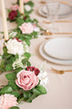 Handcrafted Fluffy Rose Vine Garland