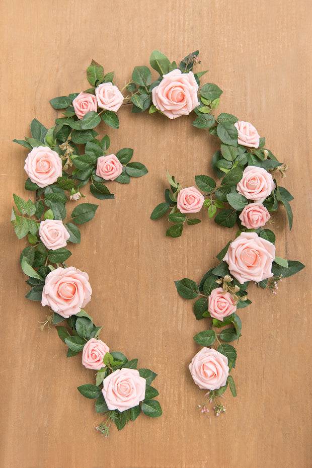 5Ft Rose Flower Garland Runner - Blush