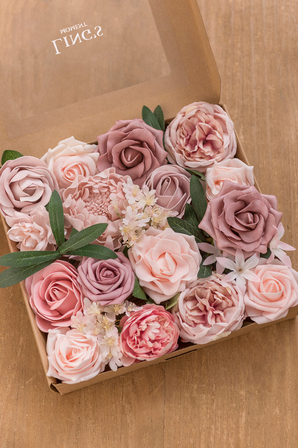 Blush & Peach Flowers Box Set - 6 Colors