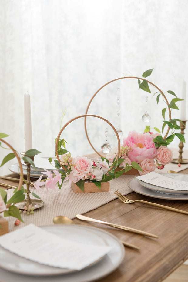 DIY Wood Centerpiece Kits (Set of 3) - with Crystal