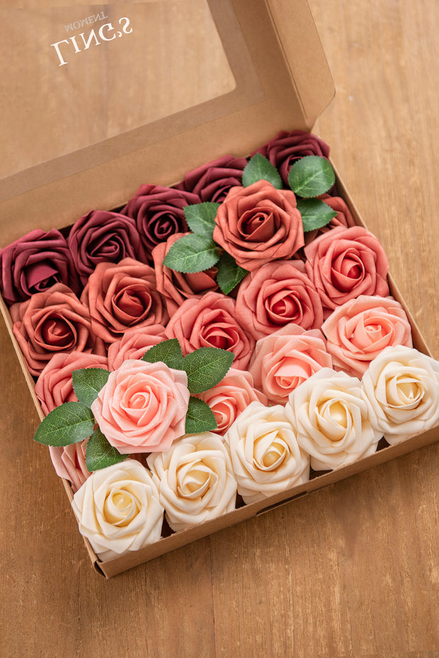 "3"" Foam Rose with Stem - 40 Colors"