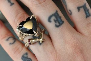 Cross Claws with a Ruby Ring