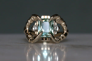 Art Deco Aquamarine