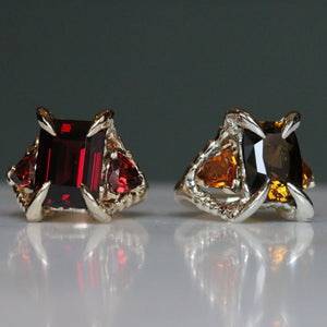 Honey Triptych Ring