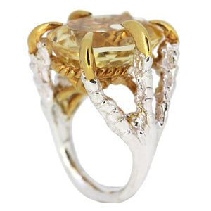Citrine Deborah Ring