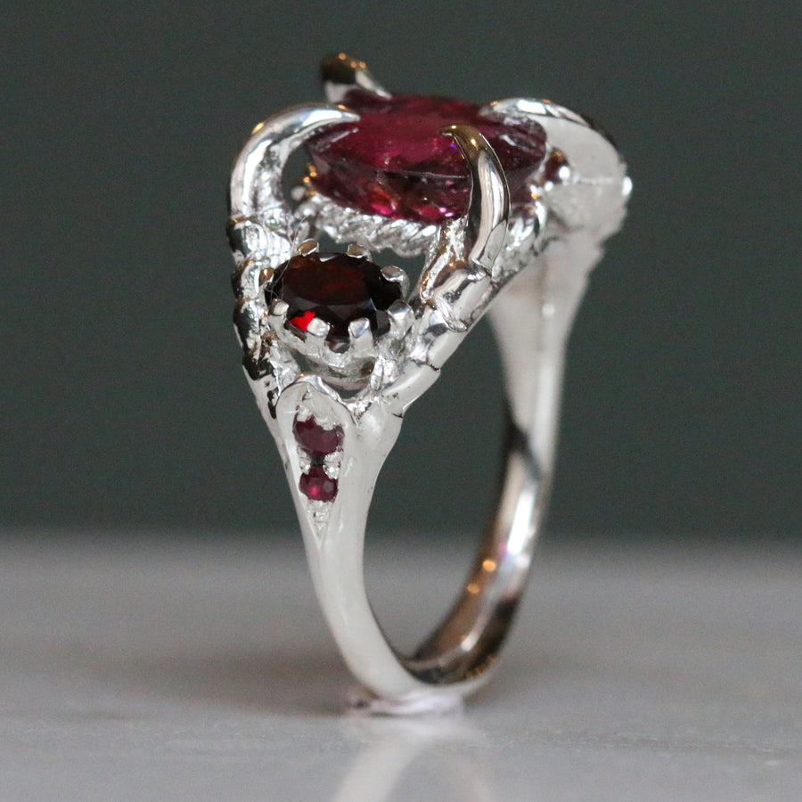 Deep Tourmaline Violaine Ring