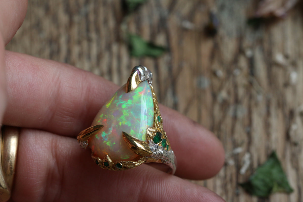 Faye's Opal and Emerald Teardrop