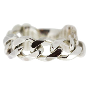 Heavy Chain Ring - Silver