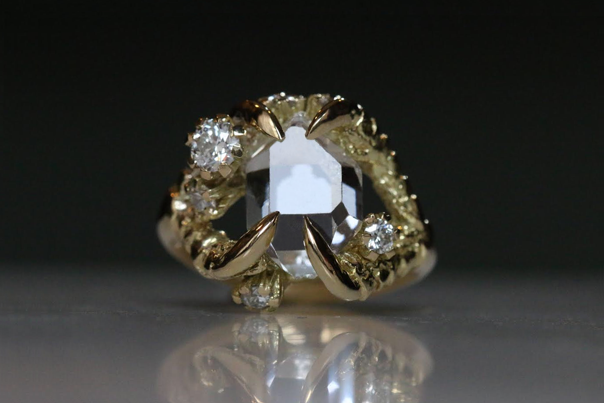 Herkimer Diamond, Diamond Engagement Ring