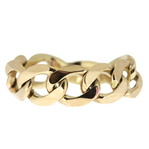 Medium Chain Ring - Gold