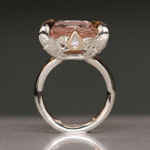 Morganite Lollipop Ring