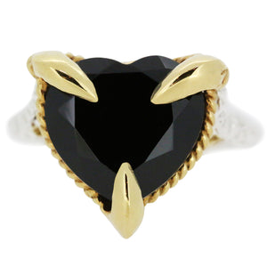 Onyx Love Heart Ring