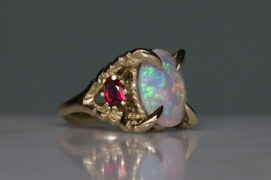 Opal, Diamonds and Pigeon Blood