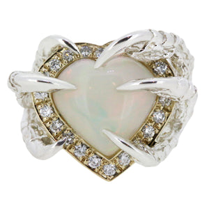 Opal Heart, Diamond Halo