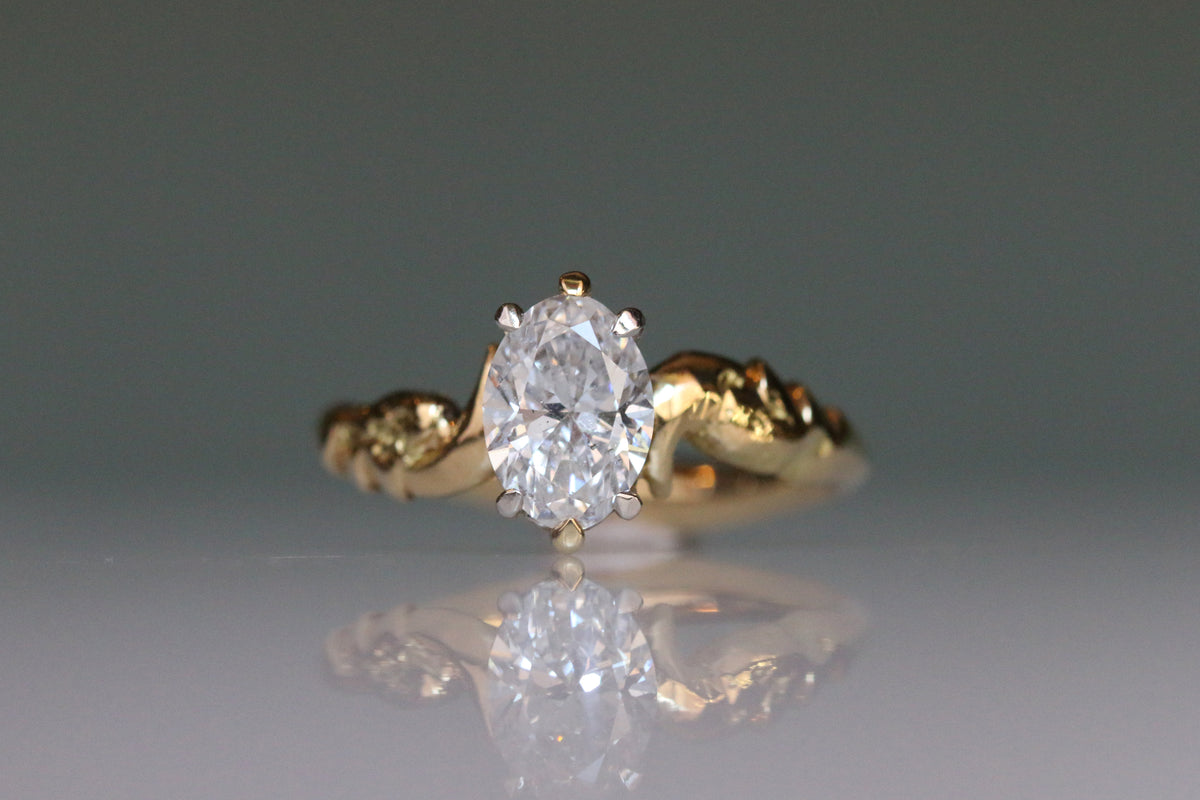 Oval Diamond Solitaire