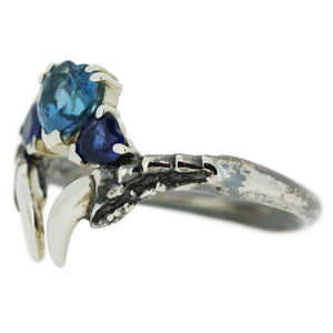 Topaz and Sapphire Oxidised Threesome